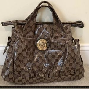 GUCCI🌟AUTHENTIC GG WEB CRYSTAL HYSTERIA SATCHEL